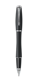 Urban London Cab Black Fountain Pen - Medium stainless steel nib