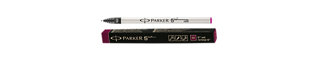 Parker 5THTM Refill - Burgundy Red medium nib