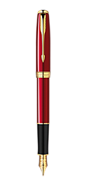 Sonnet Red - Fine Stainless Steel nib