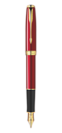 Sonnet Red - Medium Stainless Steel nib