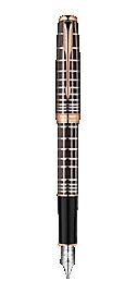 Sonnet Brown Rubber Lacquer - Medium 18K gold nib
