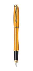 Urban Premium Mandarin Yellow Fountain Pen - Medium Stainless Steel Nib