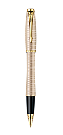 Urban Premium Golden Pearl Fountain Pen - Fine stainless steel nib