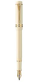 Duofold White Ivorine Centennial Fountain Pen - Medium 18k gold nib