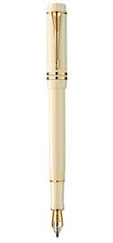 Duofold White Ivorine International Fountain Pen - Fine 18k gold nib