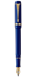 Duofold Lapis Lazuli International Fountain Pen - Medium 18k gold nib