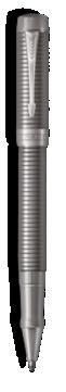 Duofold Prestige Ruthenium Chiselled Rollerball Pen - Fine  nib