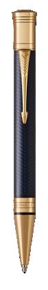 Image for Duofold Prestige Blue Chevron Ballpoint Pen - Medium nib from Parker UK