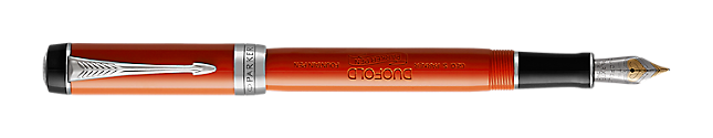 Duofold Classic Big Vintage Red Fountain Pen With Chrome Trim Medium Nib