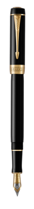 Image for Duofold Classic Black Fountain Pen - Medium nib from Parker UK