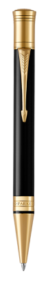 Image for Duofold Classic Black Ballpoint Pen - Medium nib from Parker UK
