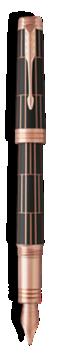 首席豪华巧克力玫瑰金夹墨水笔