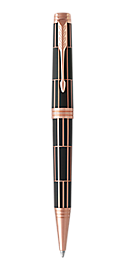 Premier Luxury Brown Retractable Ballpoint Pen With Pink Gold Trim Medium Point