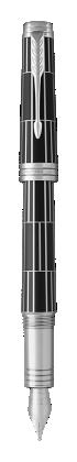 用于 Parker China 中 首席豪华现代黑白夹墨水笔 的图像