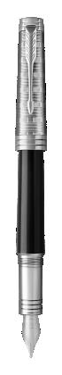 用于 Parker China 中 首席特别纯黑丽雅白夹墨水笔 的图像