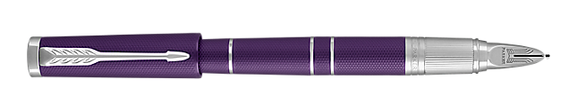 Ingenuity Deluxe Blue Violet Parker 5THTM Pen With Chrome Trim