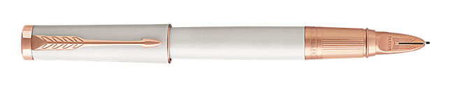 Ingenuity Lacquered Pearl Parker 5THTM Pen With Pink Gold Trim