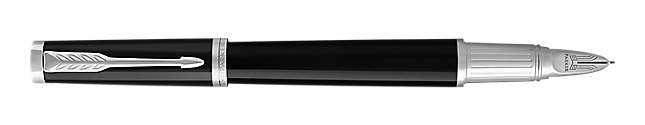 Ingenuity Lacquered Black Parker 5THTM Pen With Chrome Trim