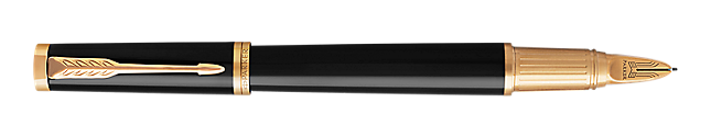 Ingenuity Lacquered Black Parker 5THTM Pen With Gold Trim