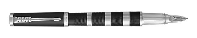 Ingenuity Black Rubber & Metal Parker 5THTM Pen With Chrome Trim