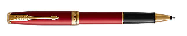 Sonnet Lacquered Red Rollerball Pen With Gold Trim Fine Point