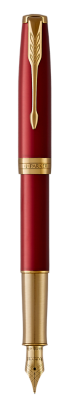 Image for Sonnet Red Lacquer Fountain pen  (gold nib) - Medium nib from Parker UK