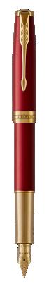 Image pour Sonnet Laque Rouge Stylo-plume  (plume or) - Plume moyenne à partir de Parker FR