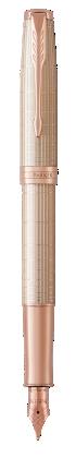 用于 Parker China 中 卓尔纯银格子纹玫瑰金夹墨水笔 的图像