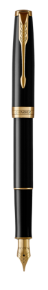 Image for Sonnet Black Lacquer Fountain pen (stainless steel nib) - Medium nib from Parker UK