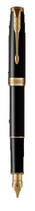 Image pour Sonnet Laque Noire Stylo-plume (plume en acier inoxydable) - Plume moyenne à partir de Parker FR