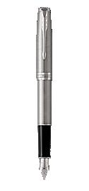 Sonnet Stainless Steel Fountain Pen With Chrome Trim Fine Nib