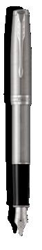 Sonnet Acier Stylo-plume - Plume moyenne