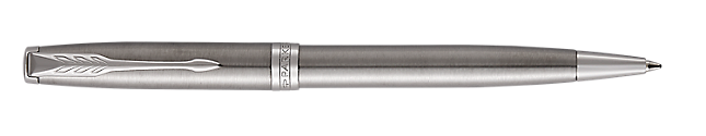 Sonnet Stainless Steel Retractable Ballpoint Pen With Chrome Trim Medium Point