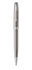 Sonnet Stainless Steel Retractable Ballpoint Pen With Chrome Trim Medium Point