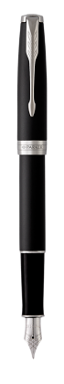 Image for Sonnet Matte Black Lacquer Fountain pen - Medium nib from Parker UK