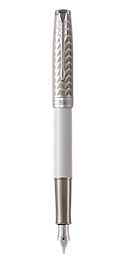 Sonnet Lacquered Metallic Pearl Fountain Pen With Chrome Trim Fine Nib