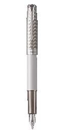 Sonnet Lacquered Metallic Pearl Fountain Pen With Chrome Trim Medium Nib