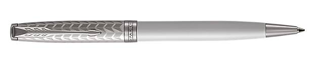 Sonnet Lacquered Metallic Pearl Retractable Ballpoint Pen With Chrome Trim Medium Point