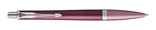 Urban Premium Dark Purple Retractable Ballpoint Pen With Chrome Trim Medium Point