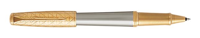 Urban Premium Powdered Aureate Rollerball Pen With Gold Trim Fine Point