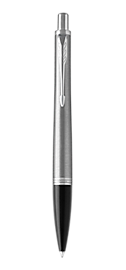 Urban Metro Metallic Retractable Ballpoint Pen With Chrome Trim Medium Point