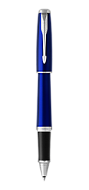 Urban Nightsky Blue Rollerball Pen With Chrome Trim Fine Point