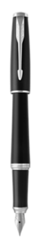 Stylo-plume Urban Noir Feutré finition chrome - Plume moyenne