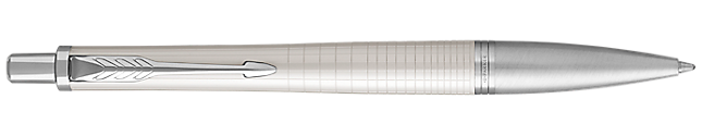 Urban Premium Pearl Metal Retractable Ballpoint Pen With Chrome Trim Medium Point