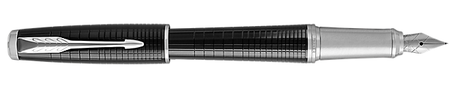 Urban Premium Ebony Metal Fountain Pen With Chrome Trim Medium Nib