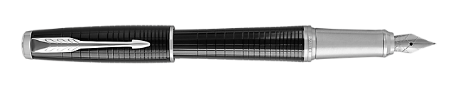 Urban Premium New Ebony Fountain Pen With Chrome Trim Fine Nib