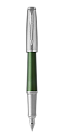Urban Premium Green Fountain Pen With Chrome Trim Medium Nib