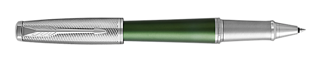 Urban Premium Green Rollerball Pen With Chrome Trim Fine Point