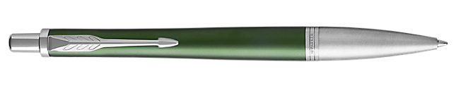 Urban Premium Green Retractable Ballpoint Pen With Chrome Trim Medium Point