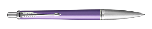 Urban Premium Violet Retractable Ballpoint Pen With Chrome Trim Medium Point